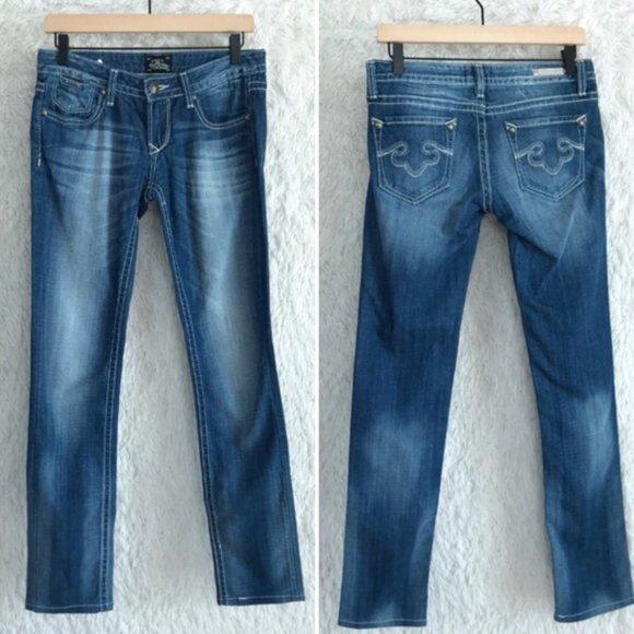Express Rerock Skinny Jeans Medium Wash